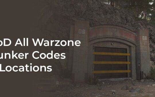 All Bunker Codes Warzone