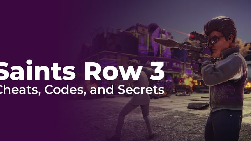 Cheats For Saints Row 3